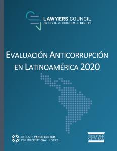 Evaluación Anticorrupción en Latinoamerica 2020|